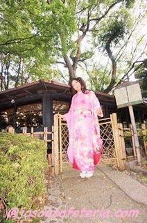 初めての振袖&日本庭園ウロウロ その1〜咲ちゃん編