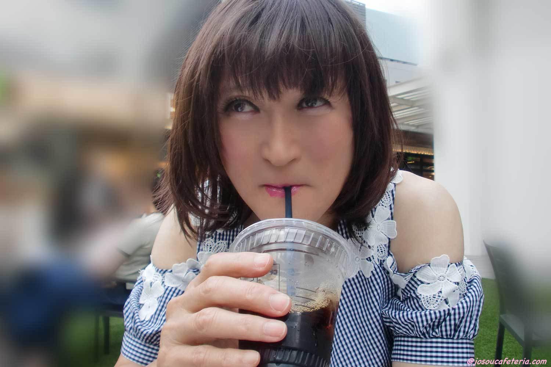 開放的にテラスカフェで女子タイム♡ かすみちゃん編
